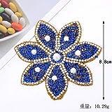 PENVEAT Colori Strass Fiore Cristallo Strass per Abbigliamento Ferro su Vestiti Applique Strisce Strisce Adesivi Diamante Perla, N-BT6732