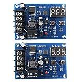 DierCosy Tools 2 Piezas de la batería de Carga del módulo de conmutador Junta XH-M603 12-24 Regulación de Carga Indicación de la tensión de Protección