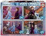 Educa - Frozen 2 4 Puzzles, 50+80+100+150 Piezas, Multicolor (18640)