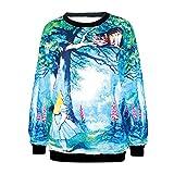 Ninimour Damen-Pullover mit Kapuze und 3D-Digitaldruck, Motiv Cartoon, Trendige Straßenkleidung...