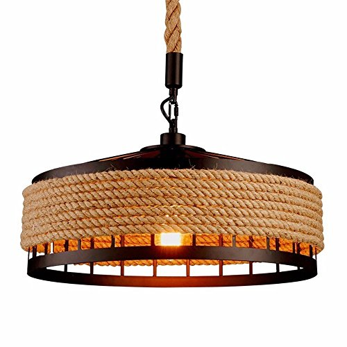Lámpara de techo retro de hierro industrial vintage estilo Loft, iluminación, lámpara colgante