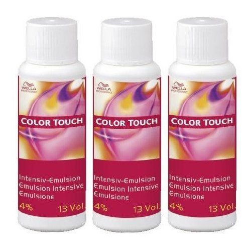 Wella 4% Color Touch Intensiv-Emulsion 3 x 60 ml H2O2 Peroxid 13 Vol. CT