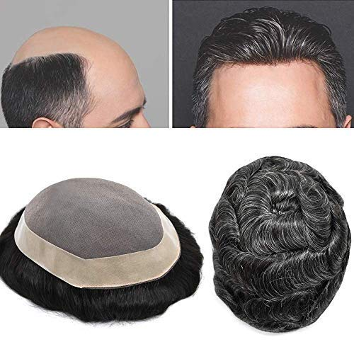 Fine quality assurance Mono Mens Toupee Hairpiece Hair Poly Excellent Replacemen Skin Around