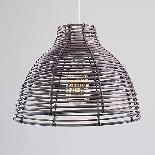 Moderna de mimbre Rattan cesta Estilo de la lámpara de tech