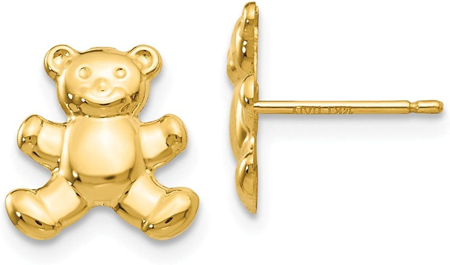 Beautiful Yellow gold 14K Yellowgold 14k Teddy Bear Post Earrings