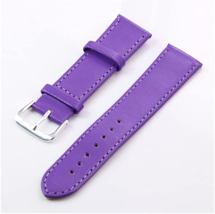 Watch Band Women Men Soft Plain Indianapolis Mall 5 ☆ very popular Faux Leather 18mm PU