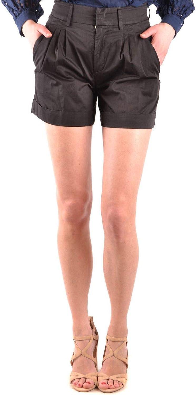 DONDUP Women's DP421RS0986SZAPDD999 Black Cotton Shorts