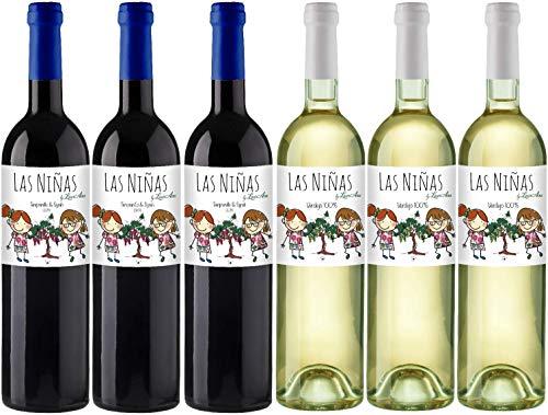 Bodegas Cañaveras Las Niñas Ecológico- Lote de 6 botellas Vino de la Tierra de Castilla Orgánico- Pack 6 x 750 ml