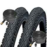 2x Schwalbe Made Impac Crosspac 700 x 38c Cyclocross Bike Tyres Schrader Tubes