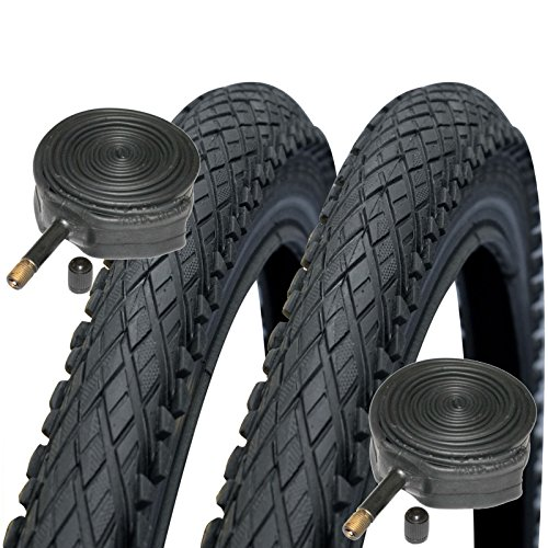 Impac Crosspac 700 x 38c Hybrid Bike Tyres with Schrader Tubes (Pair)