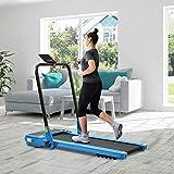 Zebery Eléctrico motorizado caminadora portátil plegable corriendo máquina ejercicio ejercicio cardiovascular 1.5Hp potente motor 12 km/h