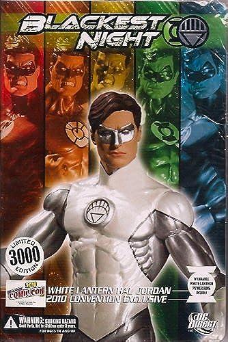 DC Direct 2010 NYCC New York ComicCon Exclusive schwarzest Night Action Figure Hal Jordan Weiß Lantern by Grün Lanten
