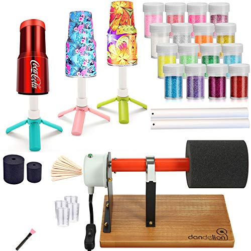 Cup Turner for Crafts Tumbler Cup Spinner Machine Kit, Wood Cuptisserie Turner DIY Glitter Epoxy Tumblers with Silent UL Motor