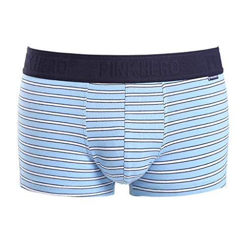 serliy😛Boxershorts Herren Fashion Elastische Faser Baumwolle Hipster Fitted Höschen Mens Sexy Unterwäsche Männer Neu Style Gestreifte Weiche Atmungsaktive Shorts Sexy Shorts