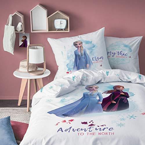 CTI Disney Frozen 2 Anna Elsa Olaf Niña Ropa de Cama 80x80 cm 135x200 CM