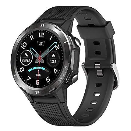 YAMAY Reloj Inteligente, Smartwatch Hombre 5ATM Impermeable con 12 Modos Deportivos Cronómetro Pulsómetro Pulsera Actividad Inteligente Smartwatch Android iOS para Xiaomi Huawei Teléfono