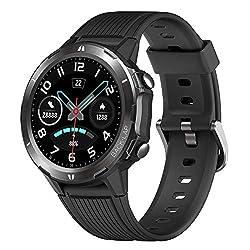 YAMAY Smartwatch Orologio Fitness Uomo Donna Impermeabile IP68 Smart Watch Touch Rotondo Cardiofrequenzimetro da polso Contapassi Fitness Tracker con ECG Cronometro Notifiche Messaggi per Android iOS
