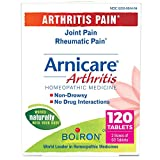 Boiron Arnicare Arthritis Homeopathic Medicine for Arthitis Pain, Joint Pain, and Rheumatic Pain, Non-Drowsy, 120 Tablets, 120 Count