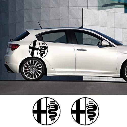 ZYHZJC 2Pcs Pegatinas de Puerta Lateral para automóvil Calcomanías de película de...
