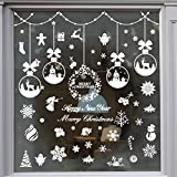 235 Piece Christmas Window Snowflake Cling Decals Stickers Decorations For Holiday Celebration Merry Christmas Winter Wonderland Party Decorations Supplies