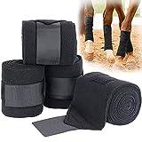 Murlancra Vendaje para caballo, antideslizante, elástico, de forro polar, para entrenamiento, perforación y entrenamiento