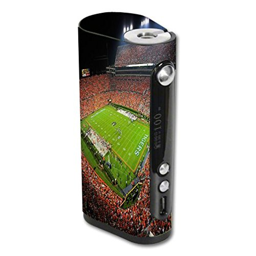 Vape Forward Vapor Flask Stout 100W TC Vape E-Cig Mod Box Vinyl DECAL STICKER Skin Wrap / College Football Stadiums