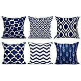 Top Finel Accent Decorative Throw Pillow Covers Durable Canvas...