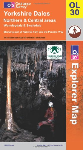 OS Explorer map OL30 : Yorkshire Dales: N & Cen areas