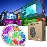 longeg Controlador Flexible RGB LED luz de Tira de 5050 5m Dc12v Led de luz de Cinta SMD NOwaterproof RGB LED de la lámpara de diodos Cinta (Color : Bluetooth Set, Size : 25m)