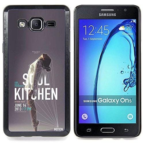 Planetar ( Portrait Mann lachend Zähne ) Samsung Galaxy On5 O5 Handyhülle Schale Hart Silikon Hülle Schutzhülle Hülle