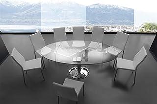 Amazon It Tavolo Allungabile Ovale Tavoli Da Sala Da Pranzo Sala Da Pranzo Casa E Cucina