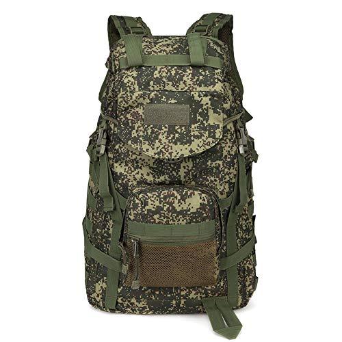 QIMENG Rucksack,Outdoor Daypacks, Im Freien Wasserdichten Sport-Tarnung Series Rucksack, Militär Fan Tactical Camping Wandern Wanderrucksack 60L,Russian Camouflage