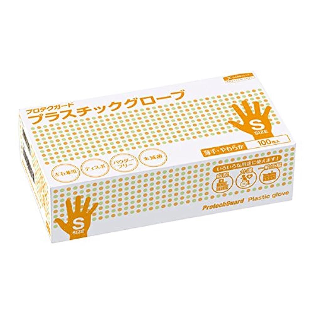 シネウィ無力ネイティブ日本製紙クレシア:プロテクガード プラスチックグローブ Sサイズ 100枚×10ボックス