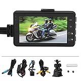 Heaveant Videoregistratore per Moto, videoregistratore per Moto Pesante 1080P Cam HD DVR Videocamera da cruscotto da 120 Gradi