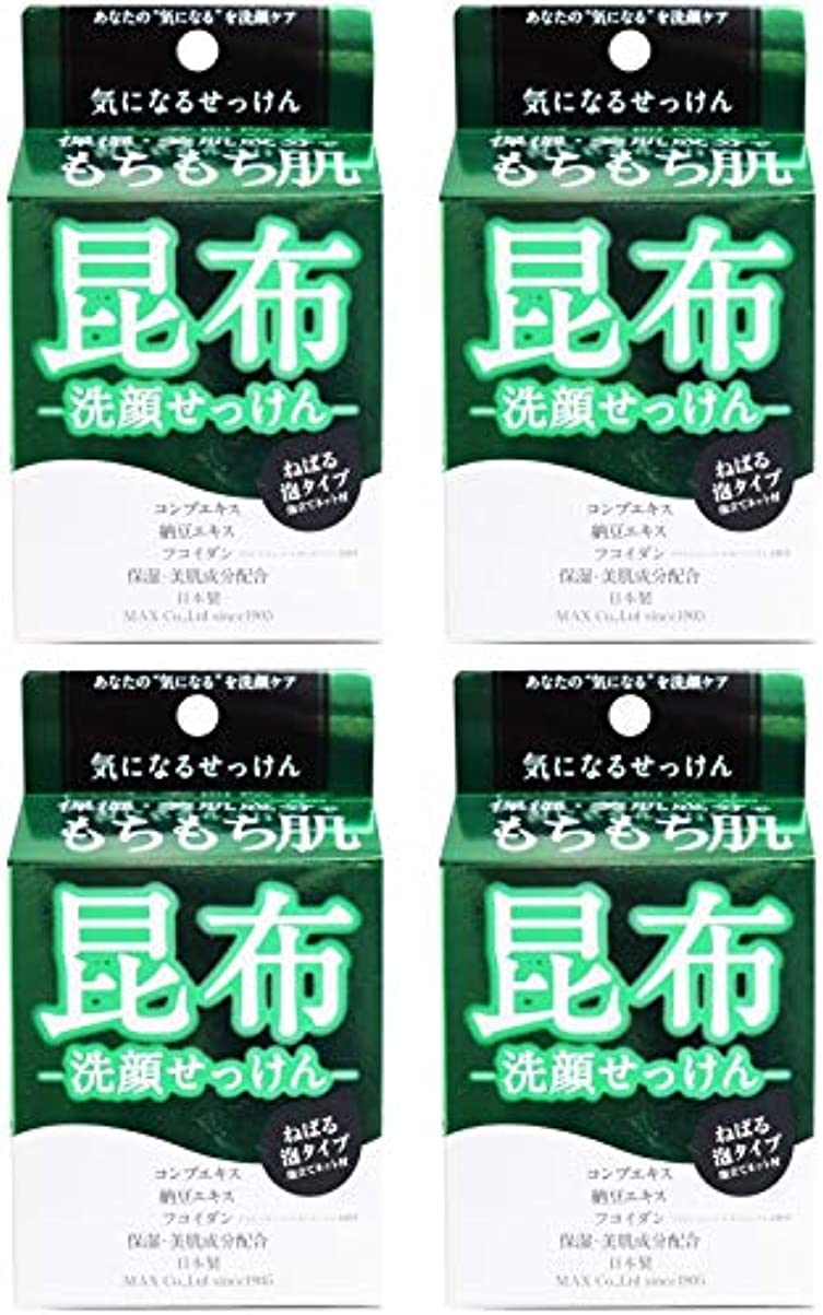知人一般化する松【まとめ買い】気になる洗顔石けん 昆布【×4個】