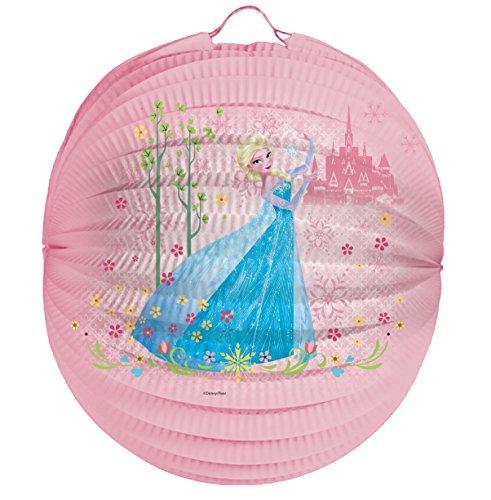 Frozen ELSA Laternenset Ballon-Laterne mit elektrischem Laternen-Stab ca. 49cm und Papier-Lampion ca.25cm für Kinder