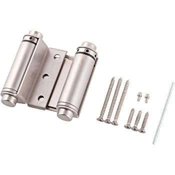 3 Double Action Spring Door Hinge,Stainless Steel Spring Hinge with Screws and Wrecking for Saloon Western Bar Pub Swinging Cafe Doors,2-Pack