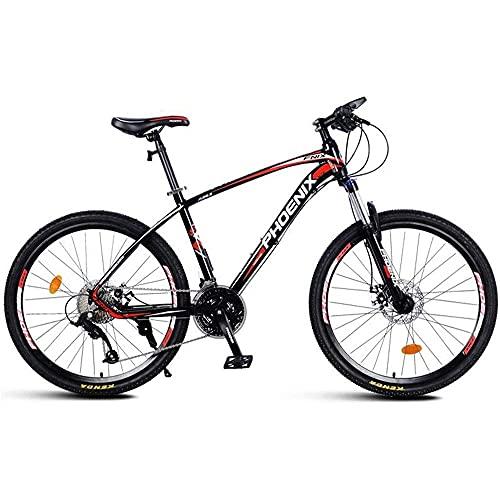 Mountain Bike per mountain bike, mountain bike, da uomo, da 26 pollici, telaio in lega di alluminio, doppio freno a disco, 27 velocità, mountain bike per donne e uomini Adul