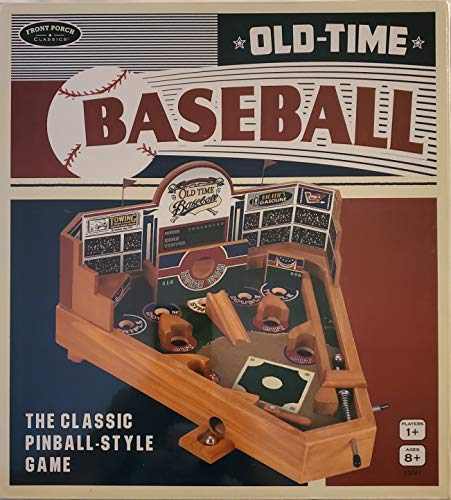 Front Porch Classics Old Time Baseball Classic Table Top Pinball Game