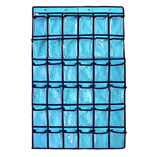 kdjsic Organizador de joyas para colgar en el armario, con 36 bolsillos transparentes