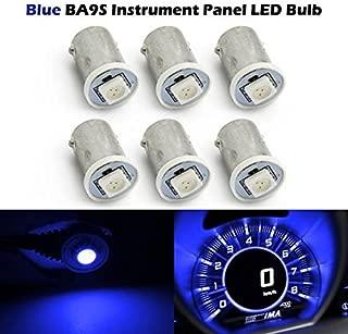 Partsam 6pcs Blue Ba9s LED Bulb 1-5050-SMD LED Instrument Panel Dash Lights Replacement Repair Kits 12V