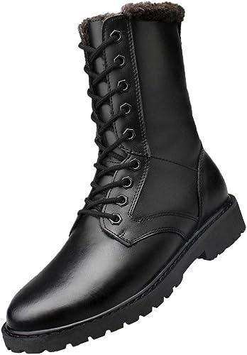 RSHENG Chaussures Hommes Hommes Hommes Les Forces Spéciales Des Hommes Combattent Les Bottes Chaudes Extérieures à Basse Température cb3