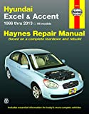 Hyundai Excel & Accent (1986-2013) Haynes Repair Manual (USA)