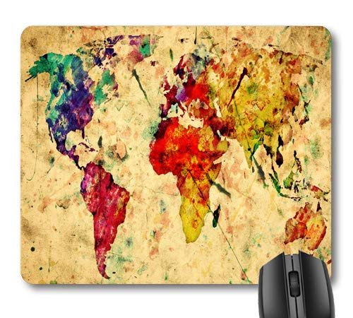 7AN.M Vintage Old World Map Mouse Pad Retro Multicolored Mouse Pads Cute Mat