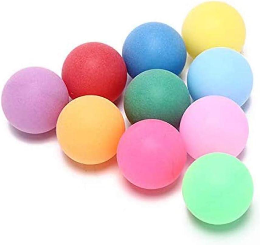 10 pelotas de tenis de mesa de ping pong de 40 mm, diseño sin costuras, accesorios para práctica y entrenamiento