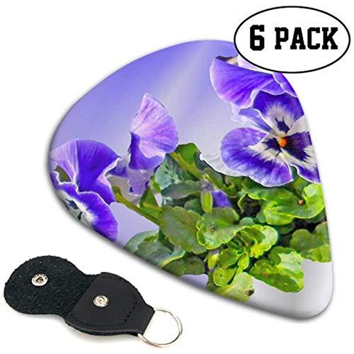 Pansy Flower Spring Blossom Bloom Purple Small Púas de guitarra eléctrica Púas...
