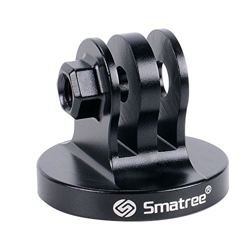 Smatree Aluminum Tripod Mount Adapter Compatible for Gopro Hero 9, 8, 7, 6, 5, 4, 3+, 3, 2, 1 HD, GOPRO Hero 2018, DJI OSMO Action Camera