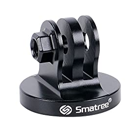 Smatree Aluminum Tripod Mount Adapter Compatible for Gopro Max/Hero 8, 7, 6, 5, 4, 3+, 3, 2, 1 HD, GOPRO Hero 2018, DJI OSMO Action Camera 7 Fit for GoPro Session, Hero 9, 8, 7, 6, 5, 4, 3+, 3, 2, 1.(Note: Thumb screw is not included.) Made of high quality Aluminum with a Threaded End, replace the plastic tripod mount. Tripod mount for attaching your quick-release camera to a standard 1/4-20 tripod stud.