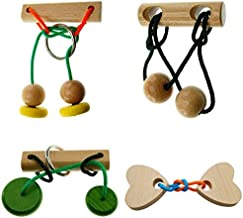 Mi-Toys Brain Twister - Wooden Puzzle 4 Pack