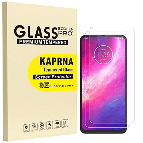 [2 Pack] Compatible with Motorola One Hyper Screen Protector (Only Fits Moto One Hyper), KAPRNA Tempered Glass Film for Motorola One Hyper (6.5